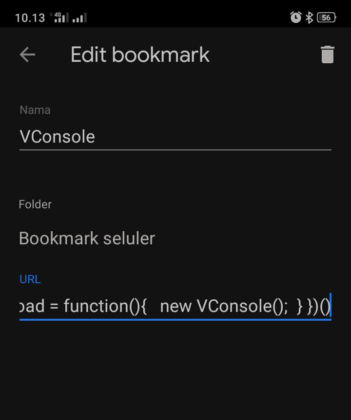 Edit-edit bookmark