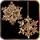 Позолоченные серьги в форме снежинок|Нужно больше золота и любви <3 King Endymion