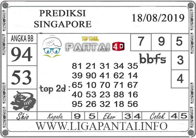 "PREDIKSI TOGEL ""SINGAPORE"" PANTAI4D 18 AGUSTUS 2019"