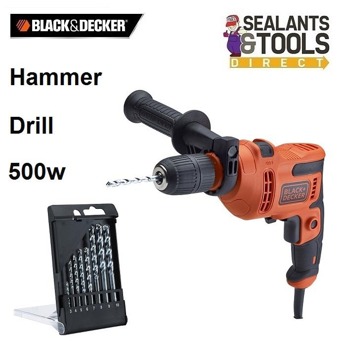 Black-Decker-XMS19-BD500-WD-Impact-Drill-500w-Bits