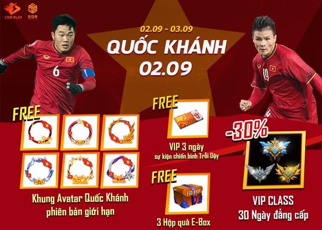 [Sự kiện} Treo cờ Quốc Khánh - Tiếp lửa bóng đá Việt cùng EGOPLAY