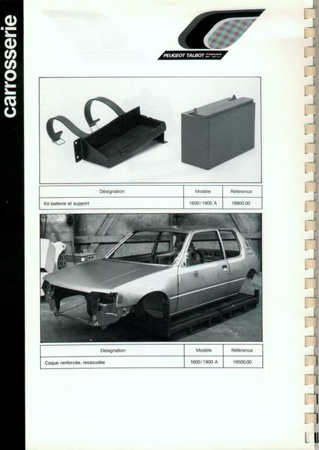 Catalogue PTS pièces compétition - 205 GTI 1600-1900 gr. N/A PTS-Carrosserie-6