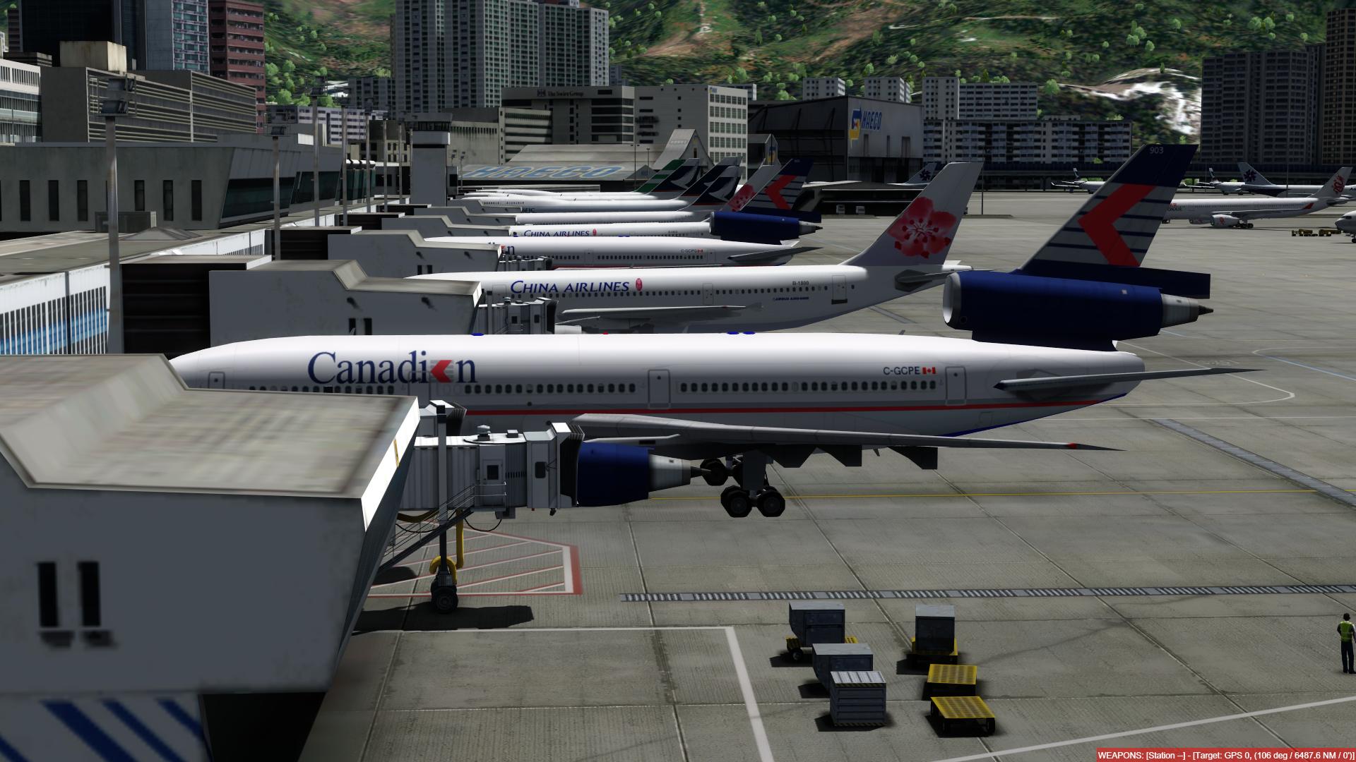 O dia a dia em Hong Kong Kai Tak - O aeroporto mais emocionante do mundo! P3D V4.4 - Só trafego AI. Captura-de-Tela-223