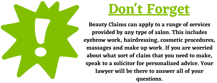 Different types of services for beauty claims