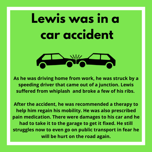 car accident example
