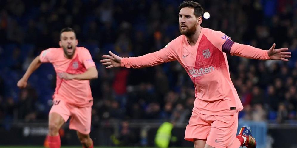 Espanyol VS Barcelona 0-4 Hasil Liga Spanyol - Cuplikan Gol