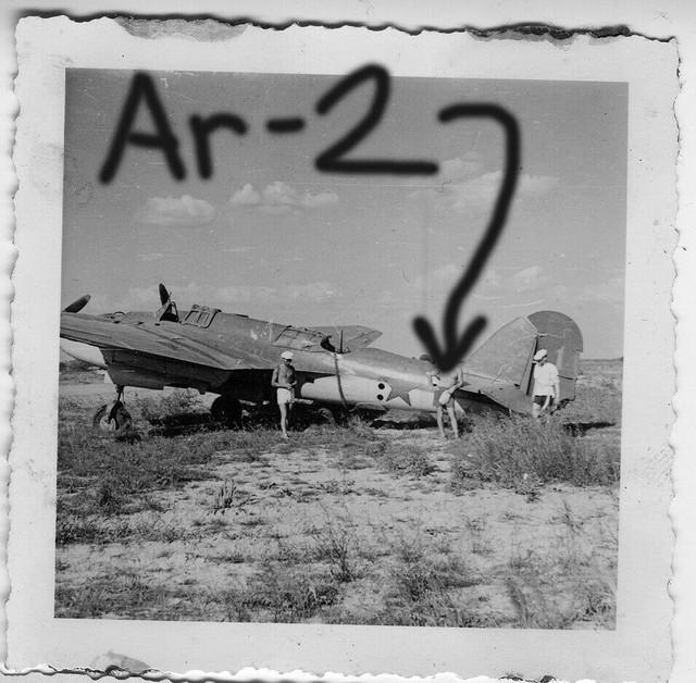 Orig-Foto-Luftwaffe-beute-Flugzeug-Ar-2-Bomber-Sowjet