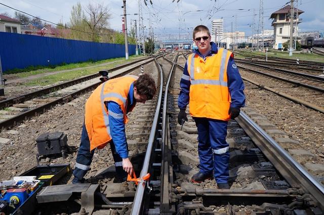 Сигнальный жилет железнодорожника