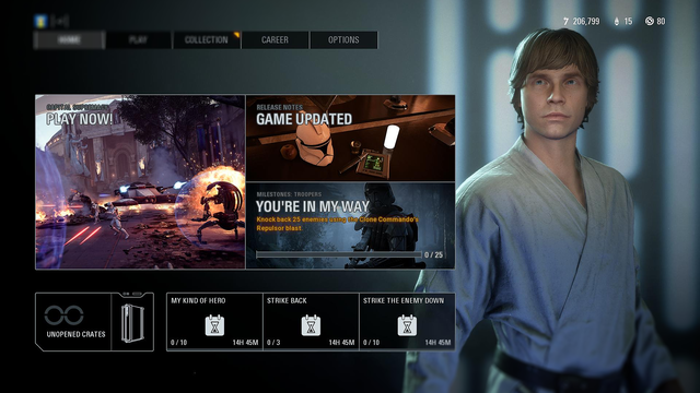 STAR WARS BATTLEFRONT II Players Can Earn The Farmboy Luke Skywalker Skin By Completing A New Community Quest
