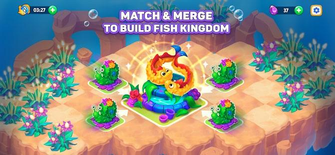 Sea Merge Fish Games in Aquarium & Ocean Puzzle 1