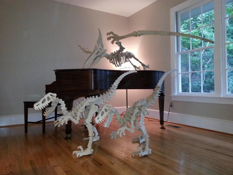 Pterodactyl 3D metal art sculpture 5