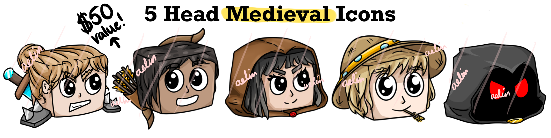Minecraft medieval icons for buycraft or tebex icons