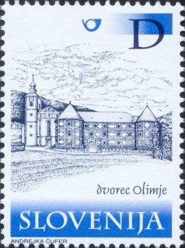 Slovenia stamps CASTLES-DVOREC-OLIMJE