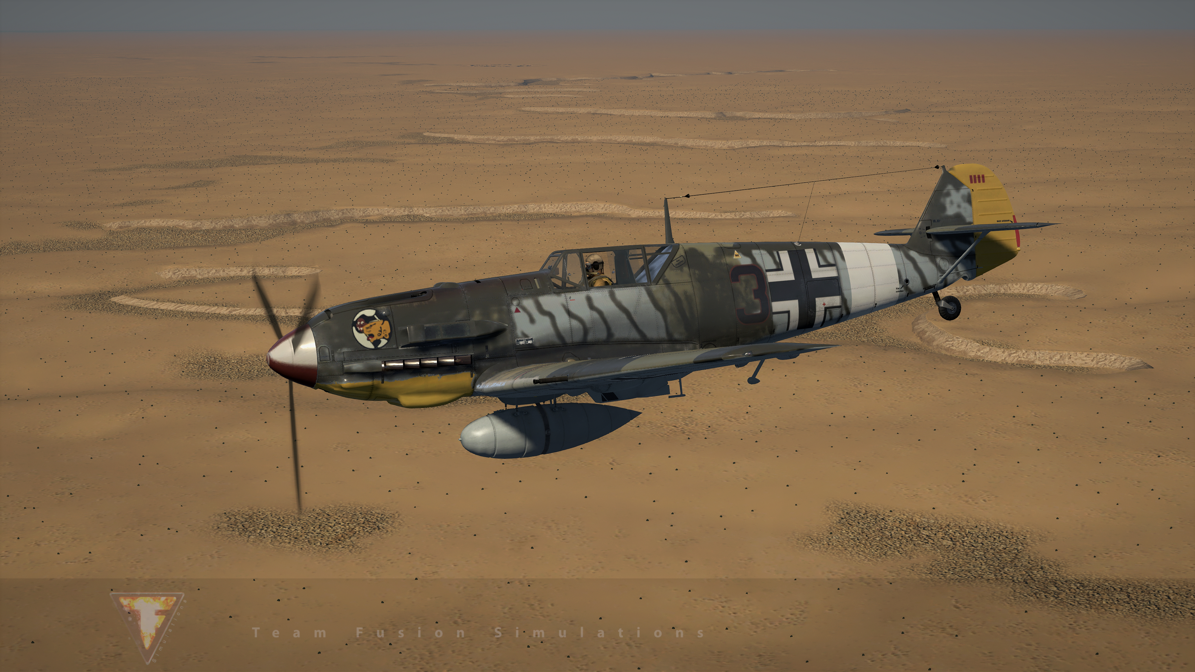 Bf-109-E-7-Trop-skin-template-by-Booster
