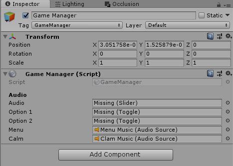 Dúvida relacionada a comportamento de objetos Game-Manager