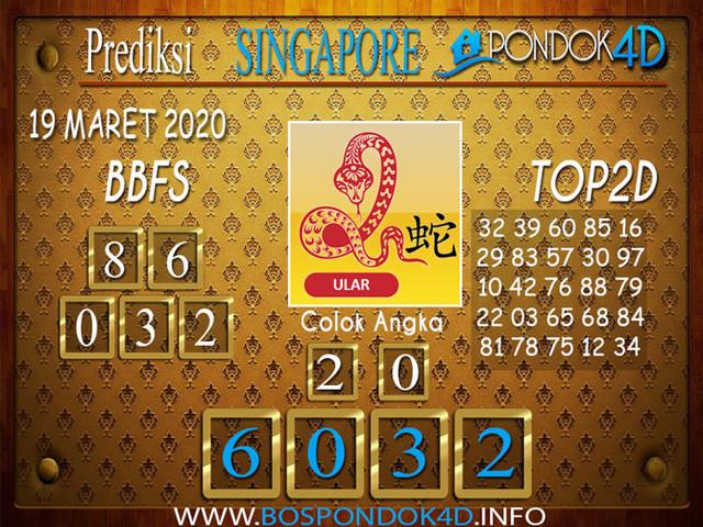Prediksi Togel SINGAPORE PONDOK4D 19 MARET 2020