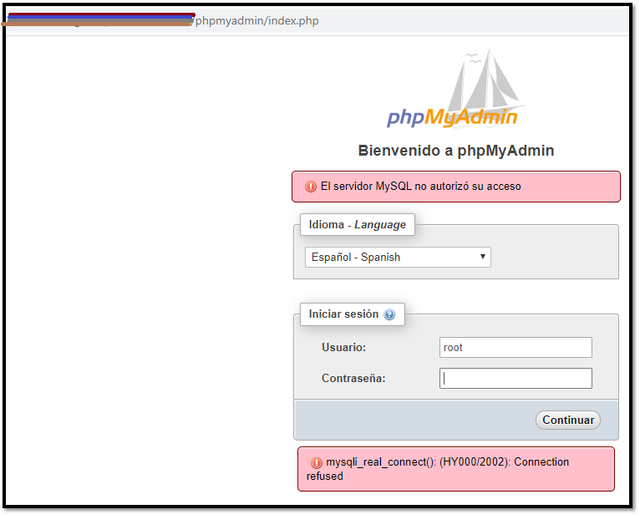 phpmyadmin-connection-refused