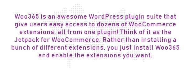 Woo365: Completo WooCommerce Plugin - 1