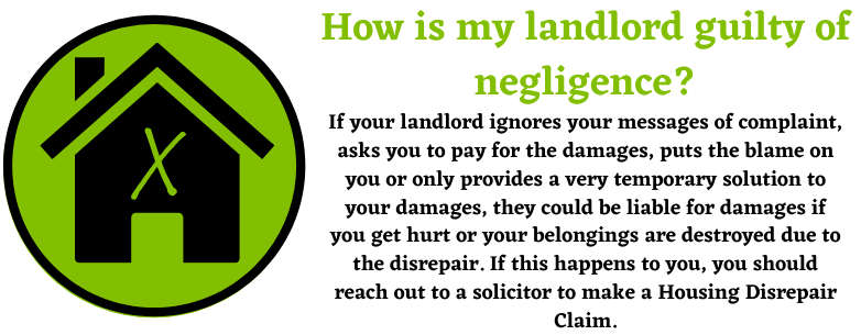 Landlord negligence with Housing Disrepair Claims