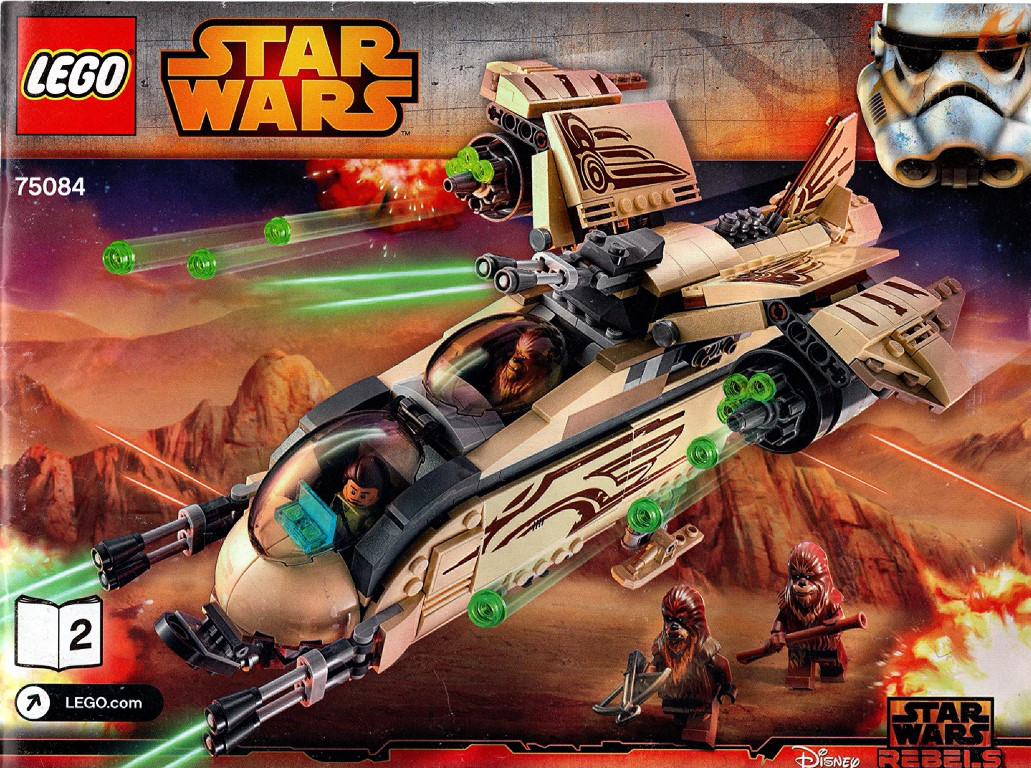 LEGO Wookiee Gunship Set 75084 Instructions, Booklet 2, unknown