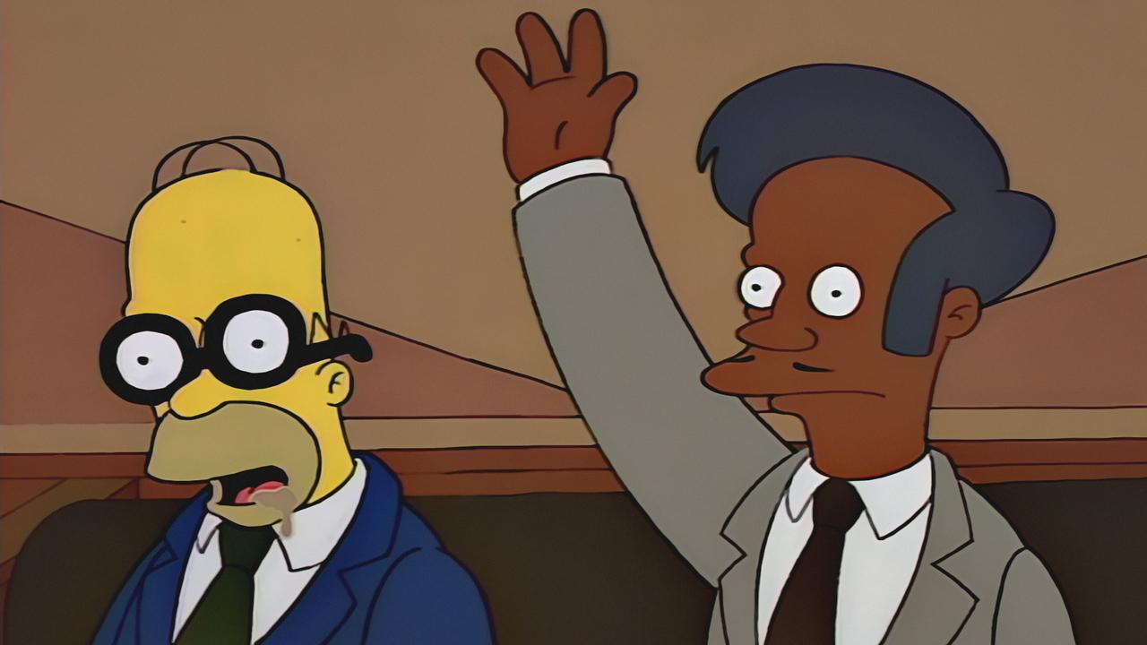 Apu y Homero Simpson