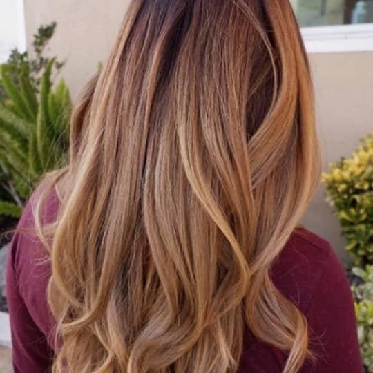 Dark Root-strawberry-styled-hair