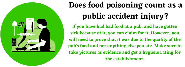 food poisoning with public accident injury claims