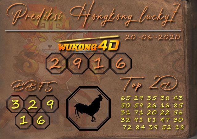 Prediksi Togel HONGKONG LUCKY 7 WUKONG4D 20 JUNI 2020