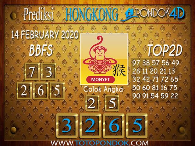 Prediksi Togel HONGKONG PONDOK4D 14 FEBRUARY 2020