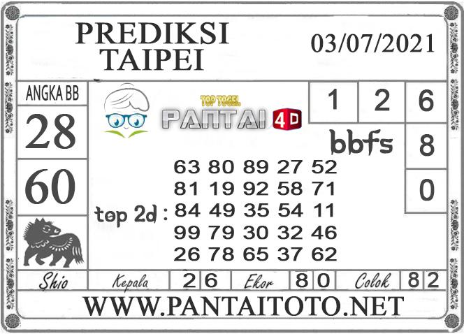 PREDIKSI TOGEL TAIPEI PANTAI4D 03 JULI 2021