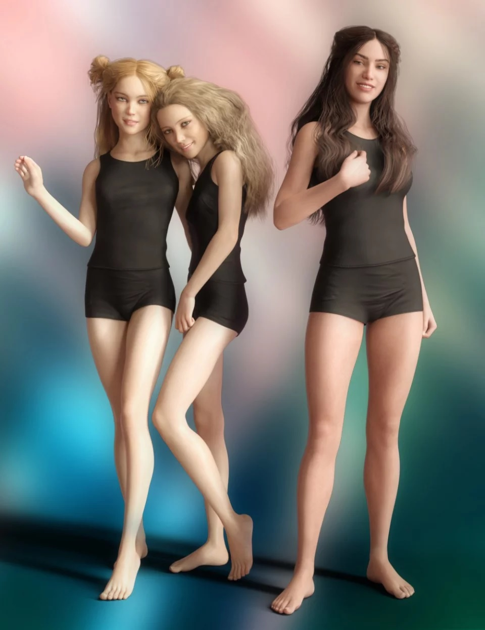 Little Divas Poses for Genesis 8 Female(s)