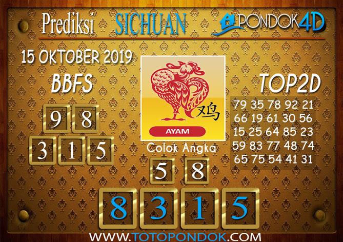 Prediksi Togel SICHUAN PONDOK4D 15 OKTOBER 2019