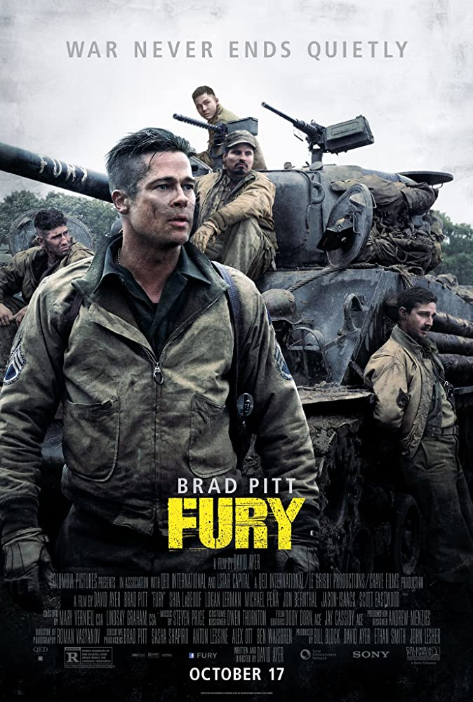 Fury 2014 Hindi ORG Dual Audio 720p BluRay ESubs 1GB | 450MB Download