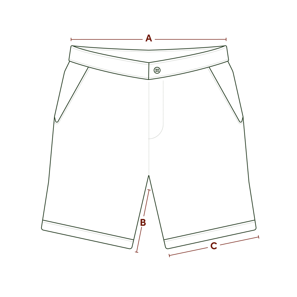 P P Size Diagram Shorts