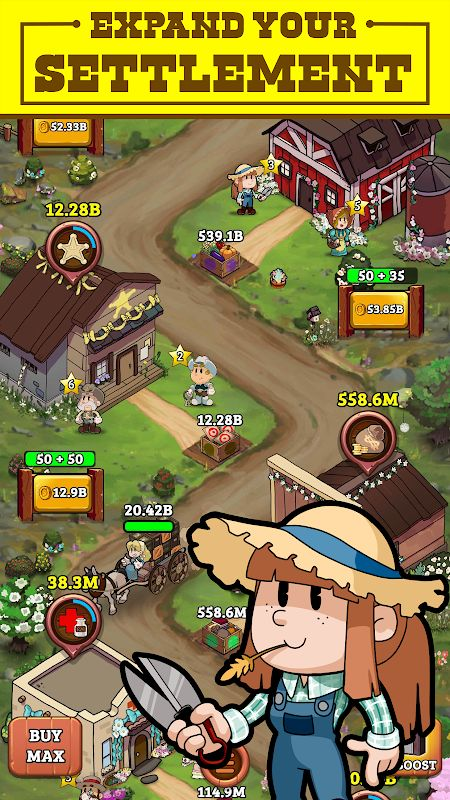 Idle Frontier: Tap Town Tycoon (MOD, Unlimited Coins)