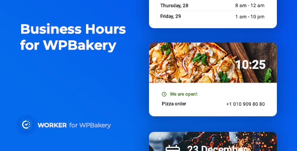 CodeCanyon - Business Hours for WPBakery v1.0.0 - Worker addon - 25384278