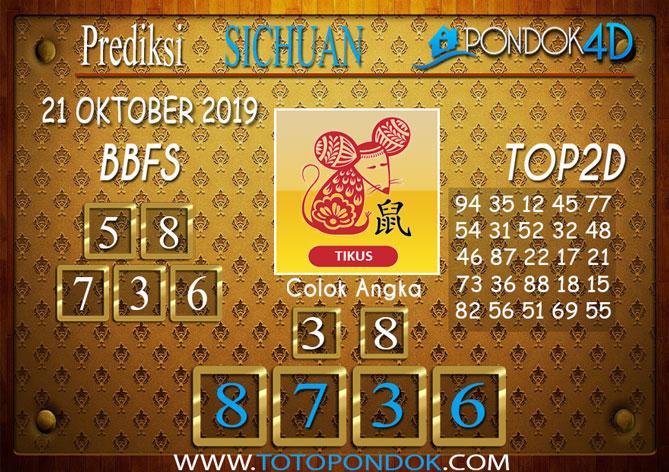 Prediksi Togel SICHUAN PONDOK4D 21 OKTOBER 2019