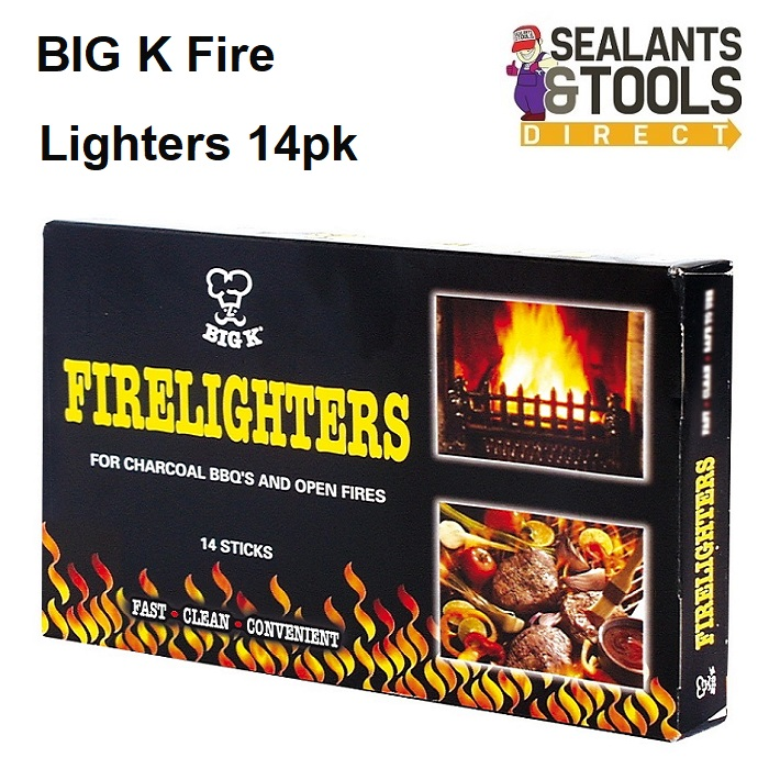 BIG K Fire Lighters Starters Open Fires BBQ's FL01