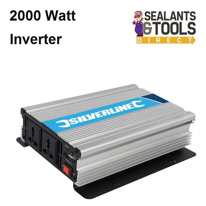 Silverline 12v Battery Power Electric Inverter 2000 Watt 444658