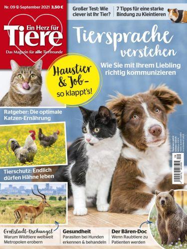 Cover: Ein Herz für Tiere Magazin No 09 2021
