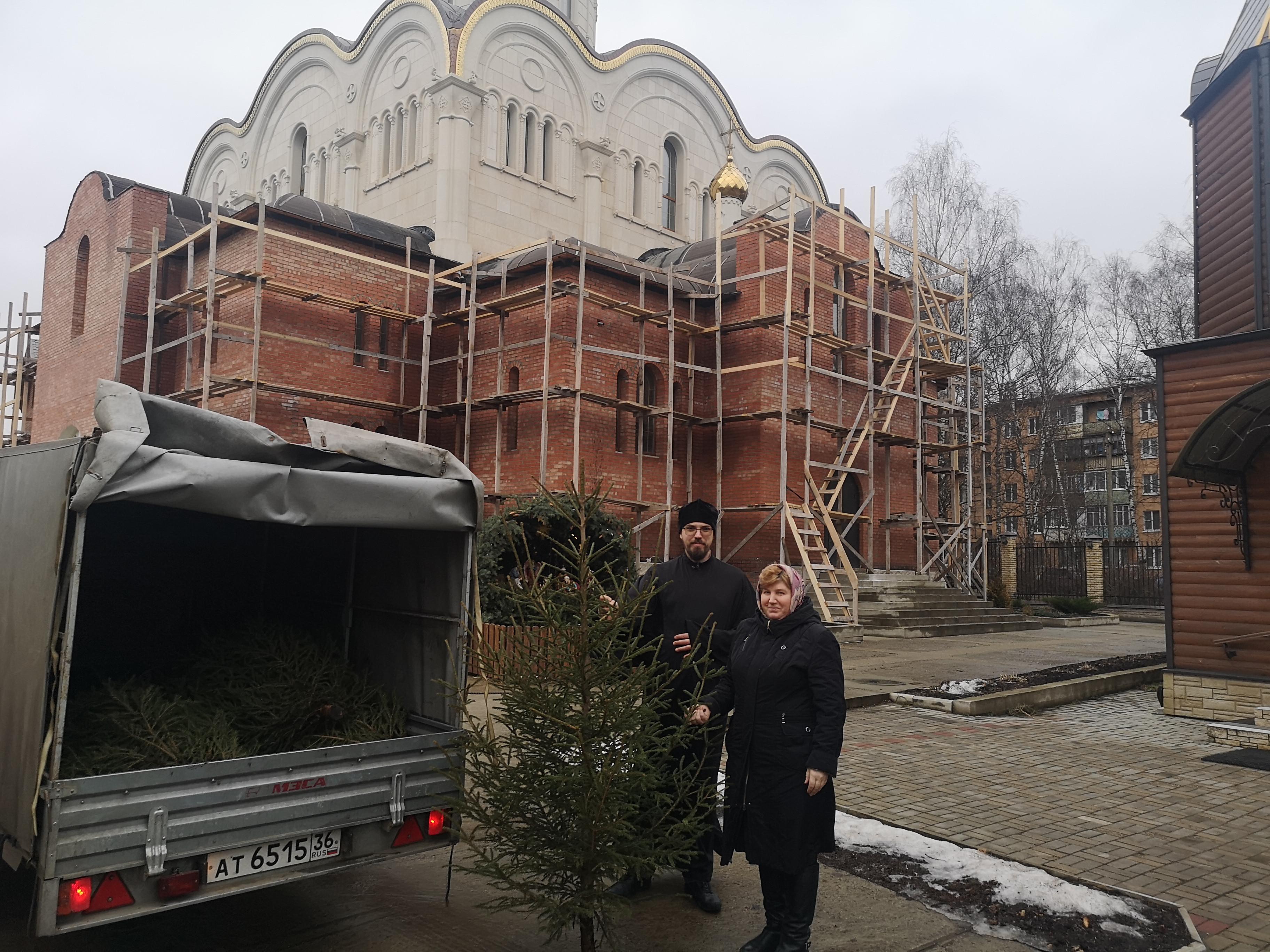16 января приход храма иконы Божией Матери Неупиваемая Чаша Королёвского благочиния принял участие в экологической акции Подари своей ёлке вторую жизнь