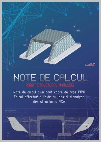 Note de calcul d'un pont cadre (PIPO)