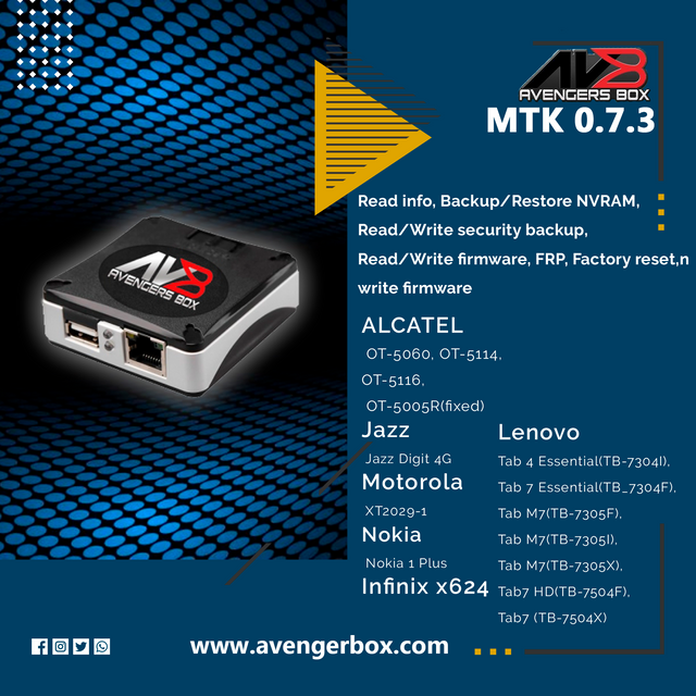 Avengers Box /UMT Pro Android MTK v0.7.3 Update Released - [16/09/2020]