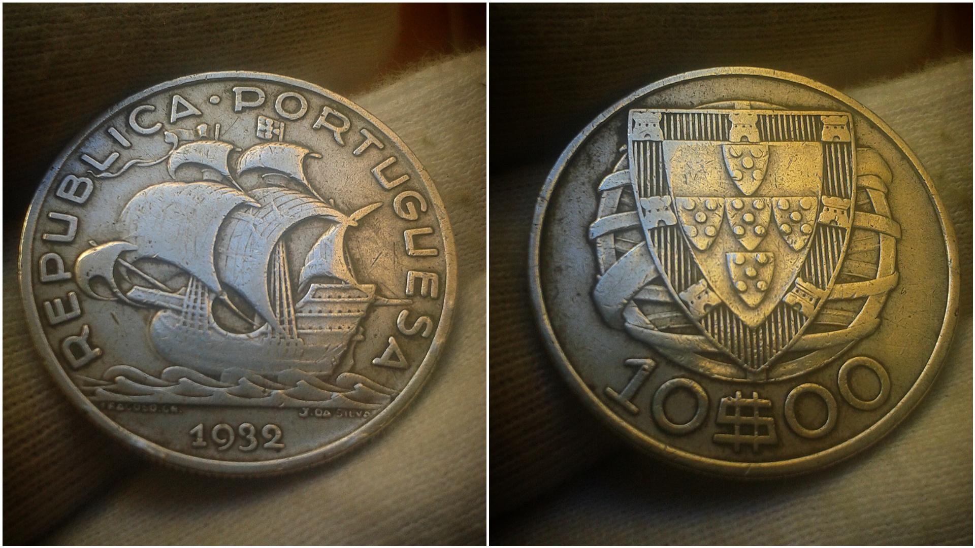 10 escudos de 1932. República de Portugal. Polish-20201221-072432913