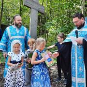 Молебен на начало учебного года в церковном экопарке Мытищинского благочиния