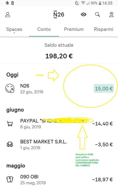 N26 10,00€ +20,00€ e addio spese su acquisti all'estero + Scegli tu il PIN Carta! Mastercard Gratis. 2019-Giu22-1