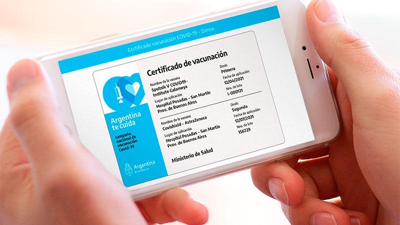 El certificado de vacunación contra el covid se puede tener en formato digital: A través de la app Mi Argentina