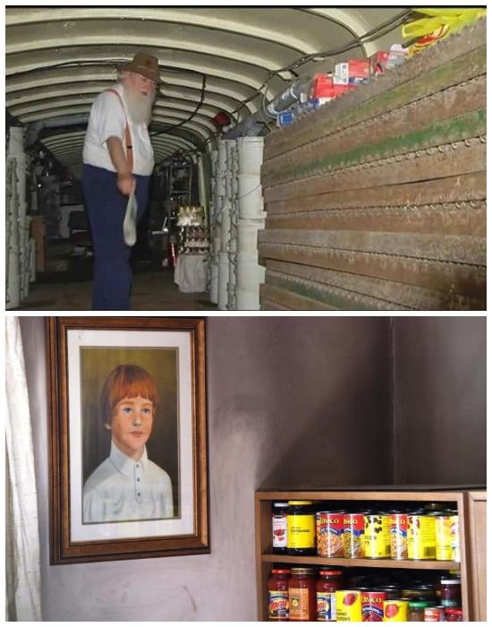 Раз в 10 лет Брюс Бич полностью меняет продукты питания в своем бункере (Ark Two, Канада).