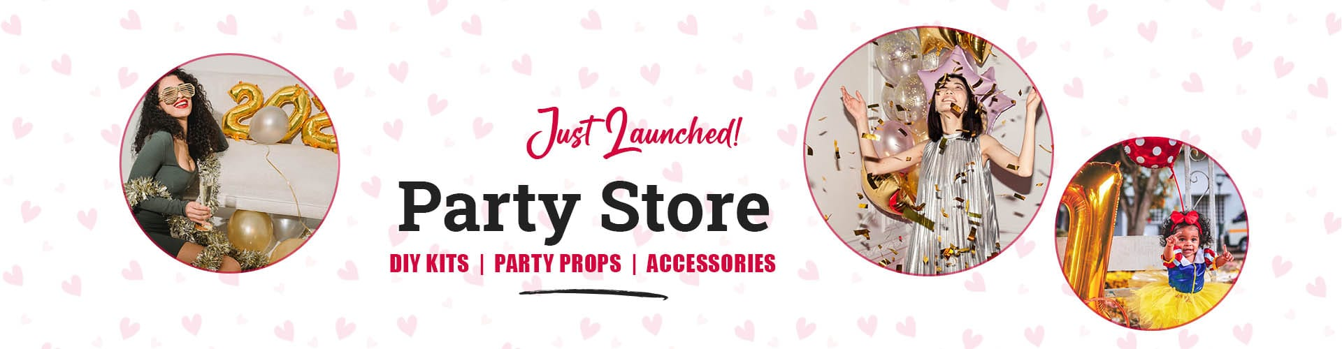 Party Store by CherishX for Birthday Decorations & Balloon Decorations DIY Kits across India