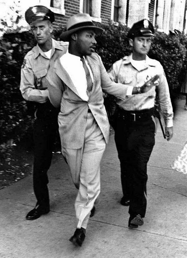 Мартина Лютера Кинга арестовали